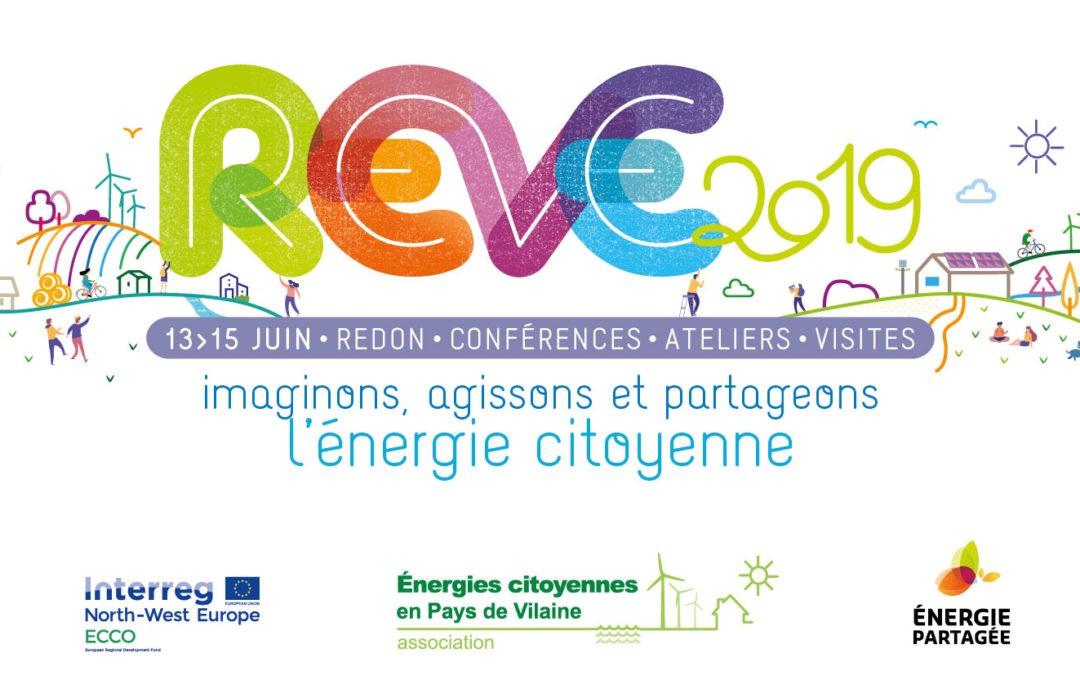 REVE 2019: les rencontres européennes de l'énergie citoyenne à Redon du 13 au 15 juin – Inscrivez-vous dès maintenant!