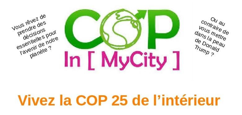 Cop In [ MyCity ] – 05/12 – Redon : EPV organise un jeu de rôle pour vivre la COP25 de l'intérieur